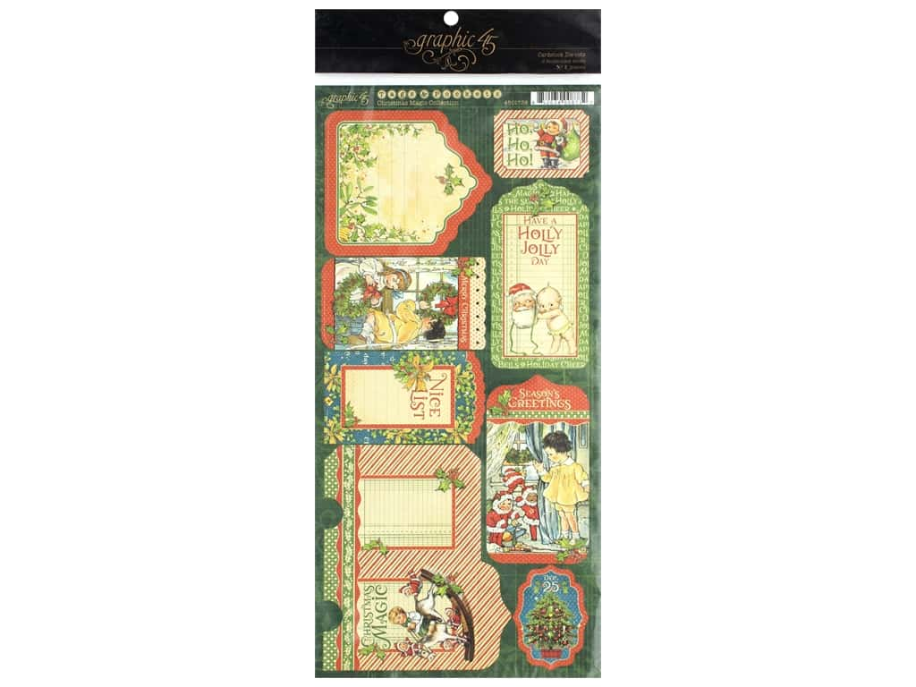 Graphic 45 Collection Christmas Magic Tags & Pockets