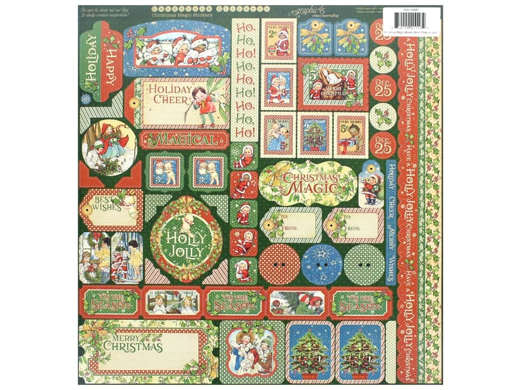 Graphic 45 Collection Christmas Magic Stickers