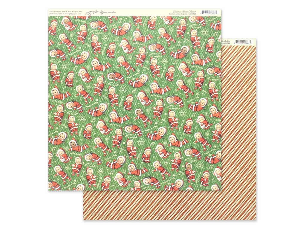 Graphic 45 Collection Christmas Magic Paper 12 in. x 12 in. Santa's Little Helper (25 pieces)