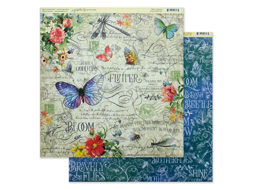 Graphic 45 Collection Flutter Paper 12 in. x 12 in. (25 pieces)