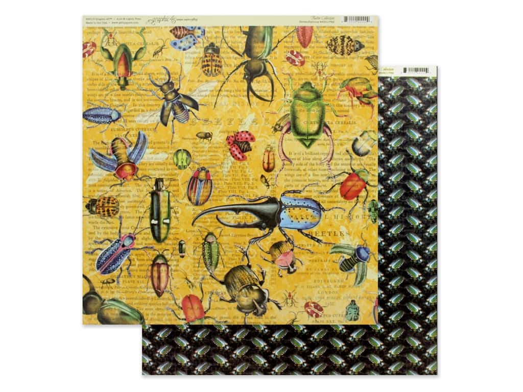 Graphic 45 Collection Flutter Paper 12 in. x 12 in. Serendipitous (25 pieces)