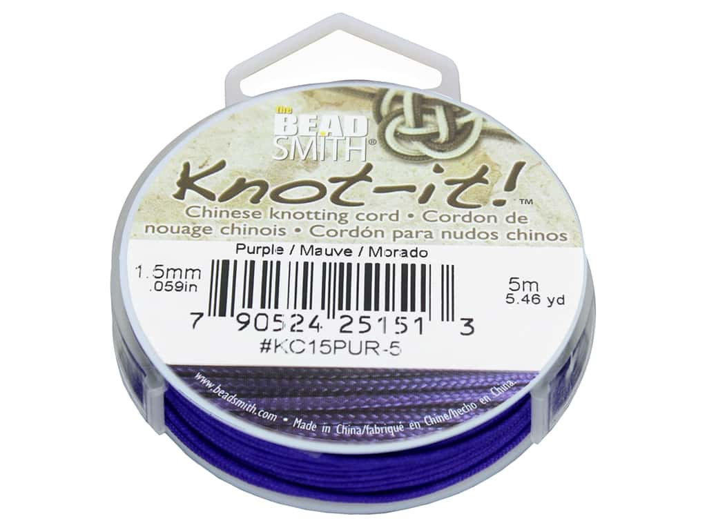 The Beadsmith Chinese Knotting Cord 1.5 mm Purple