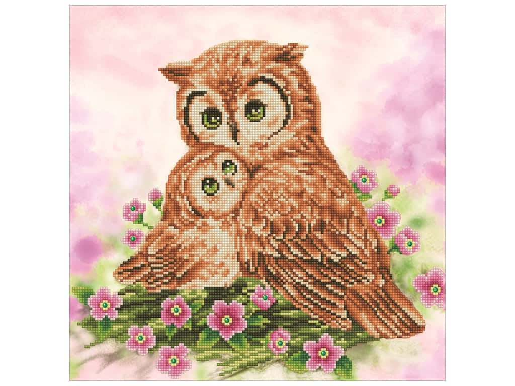 Diamond Dotz Intermediate Kit - Mother & Baby Owl