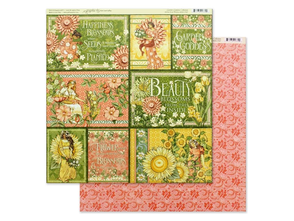 Graphic 45 Collection Garden Goddess Paper 12 in. x 12 in. Shine From Within (25 pieces)