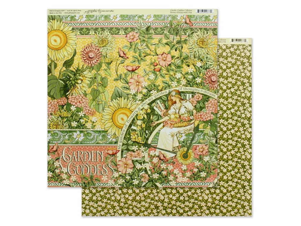 Graphic 45 Collection Garden Goddess Paper 12 in. x 12 in. (25 pieces)