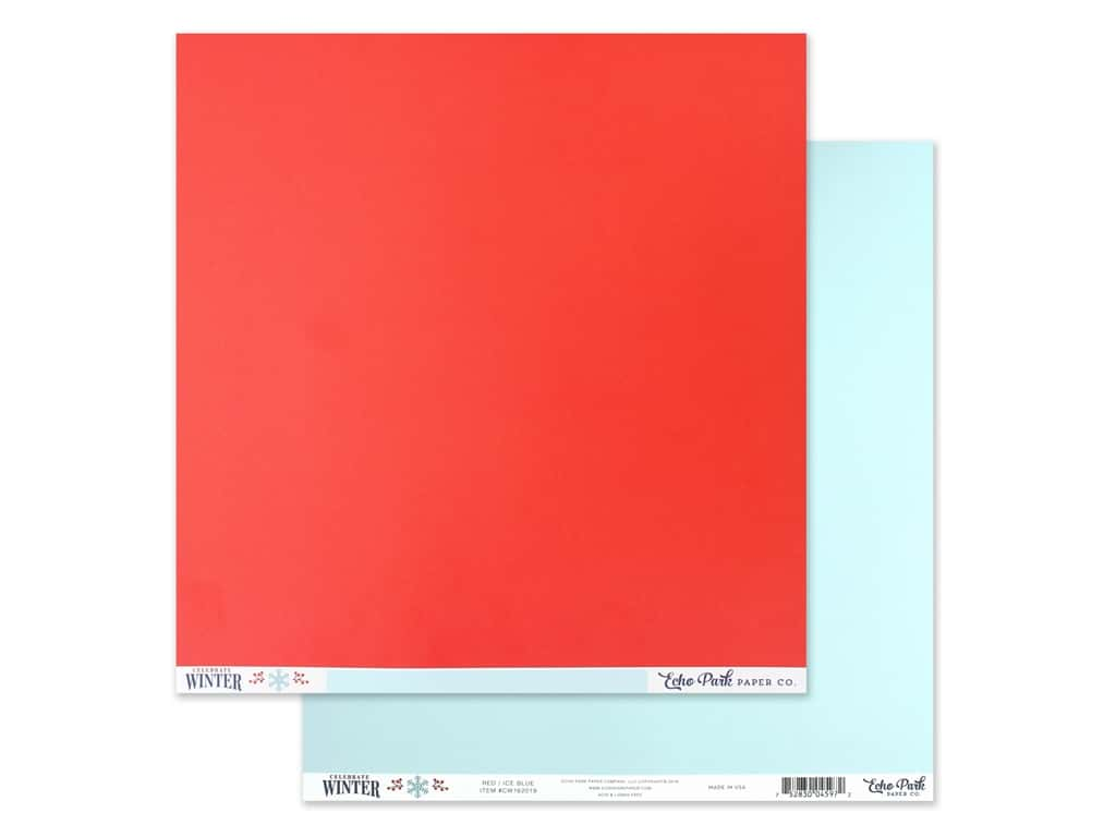 Echo Park Collection Celebrate Winter Paper 12 in. x 12 in. Red/Ice Blue (25 pieces)