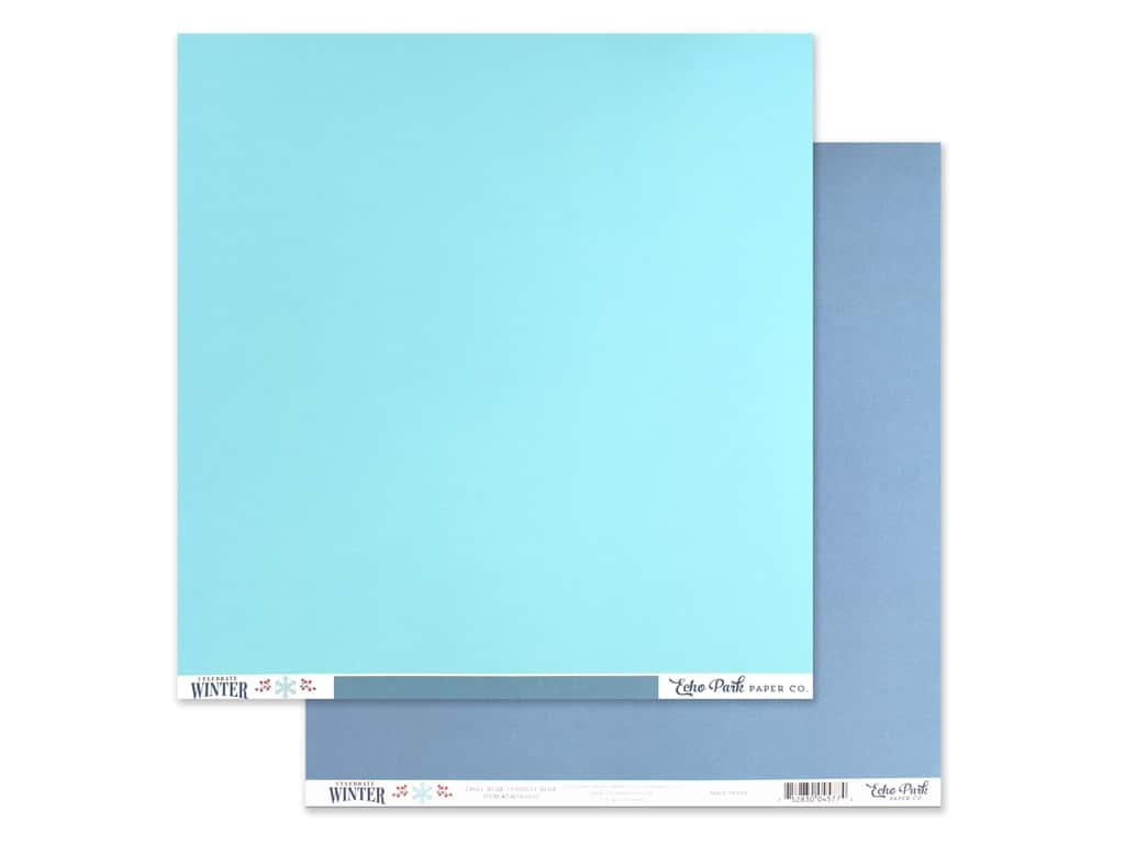 Echo Park Collection Celebrate Winter Paper 12 in. x 12 in. Chill Blue/Frosty Blue (25 pieces)