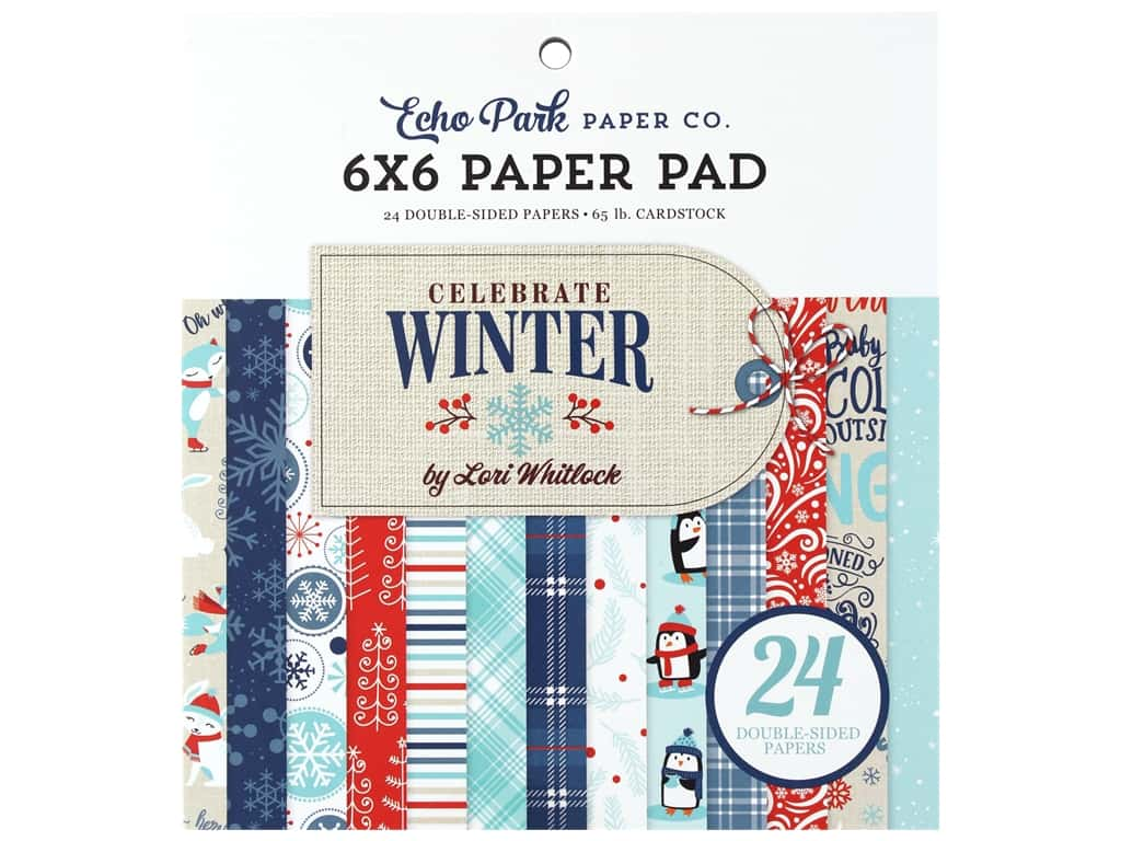 "Echo Park Collection Celebrate Winter Paper Pad 6""x 6"""