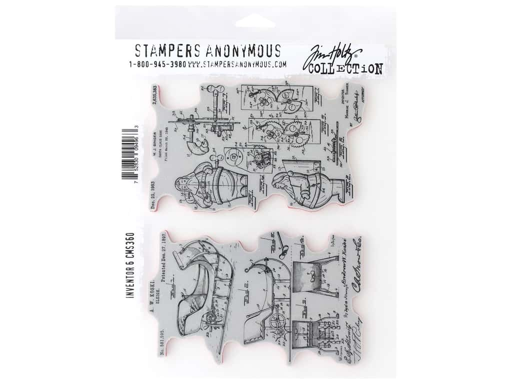 Stampers Anonymous Cling Mount Stamp Tim Holtz Inventor 6