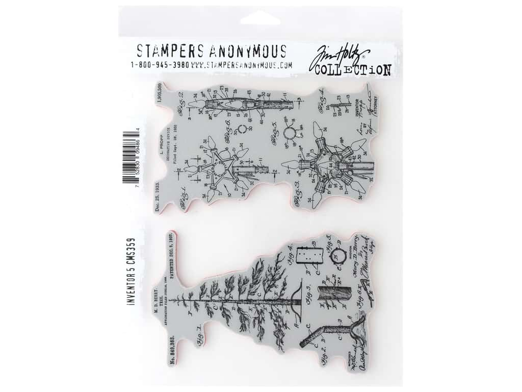 Stampers Anonymous Cling Mount Stamp Tim Holtz Inventor 5