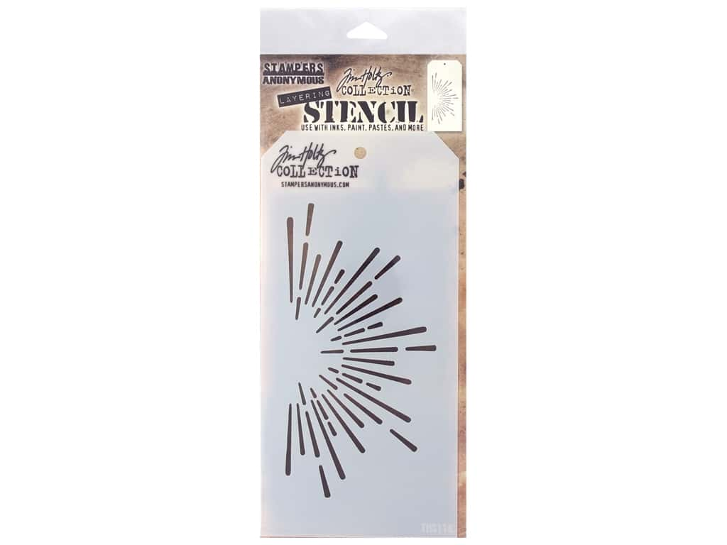 Stampers Anonymous Tim Holtz Layering Stencil - Burst