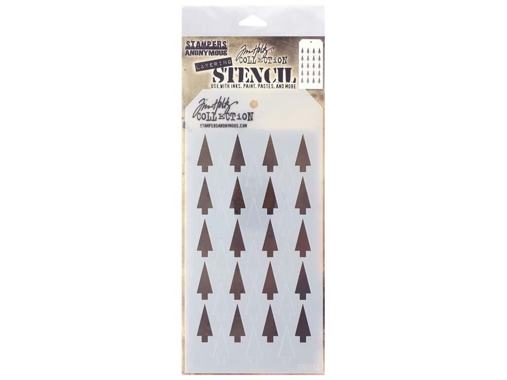 Stampers Anonymous Layering Stencil Tim Holtz Shifter Tree