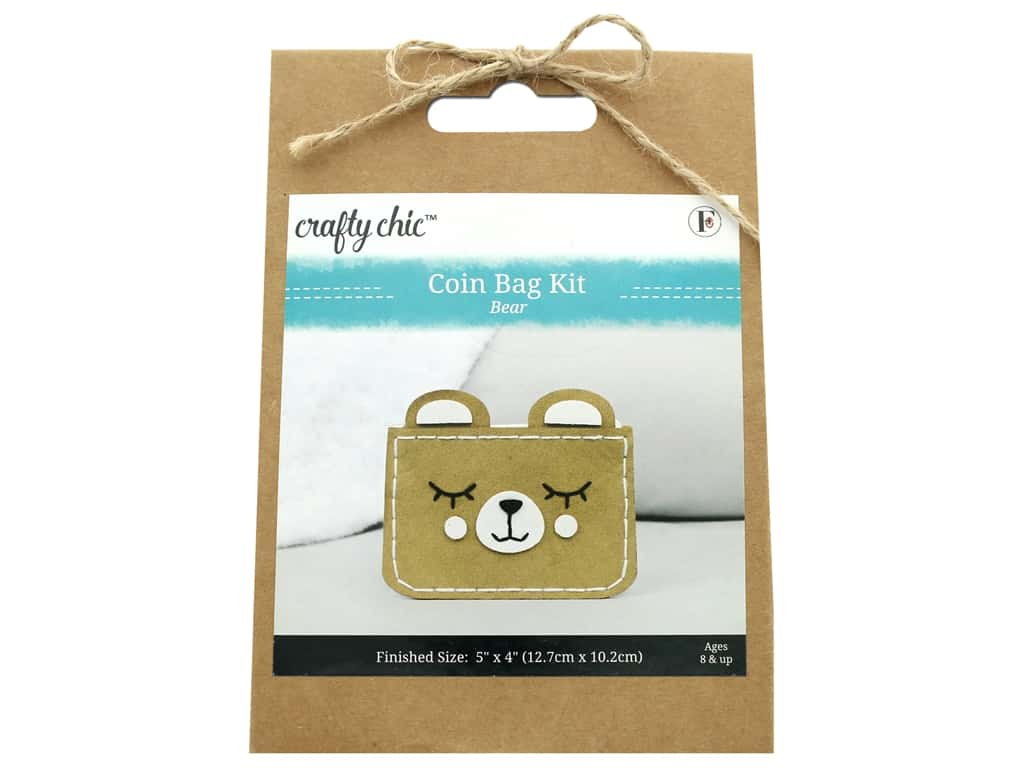 Crafty Chic Coin Bag Kit - Bear
