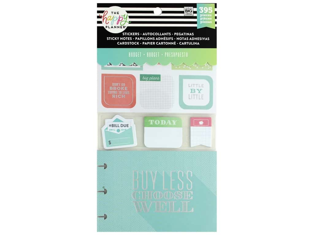 Me&My Big Ideas Happy Planner Sticker Multi Pack Budget