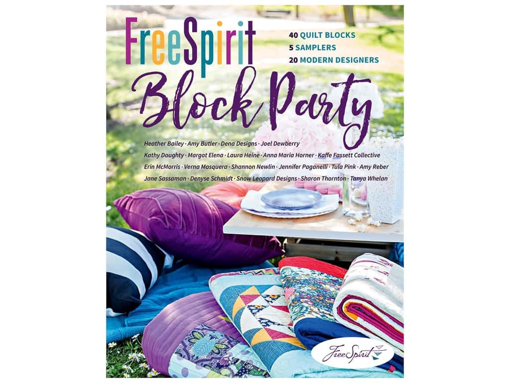 Stash By C&T FreeSpirit Block Party Book