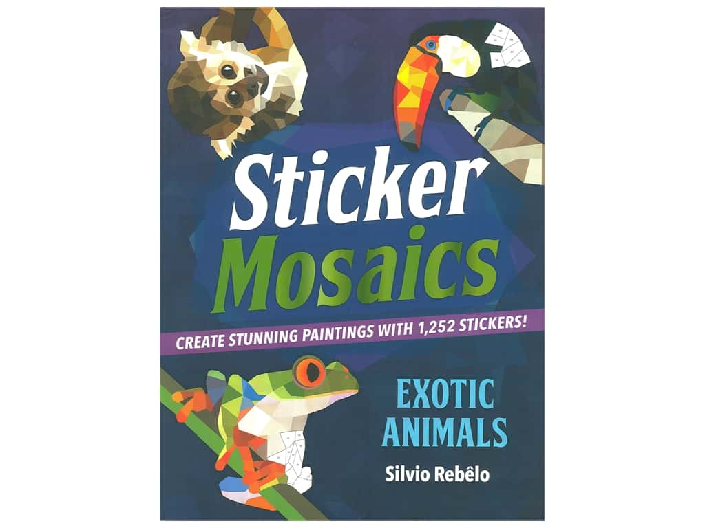 Castle Point Sticker Mosaics Exotic Animals Book