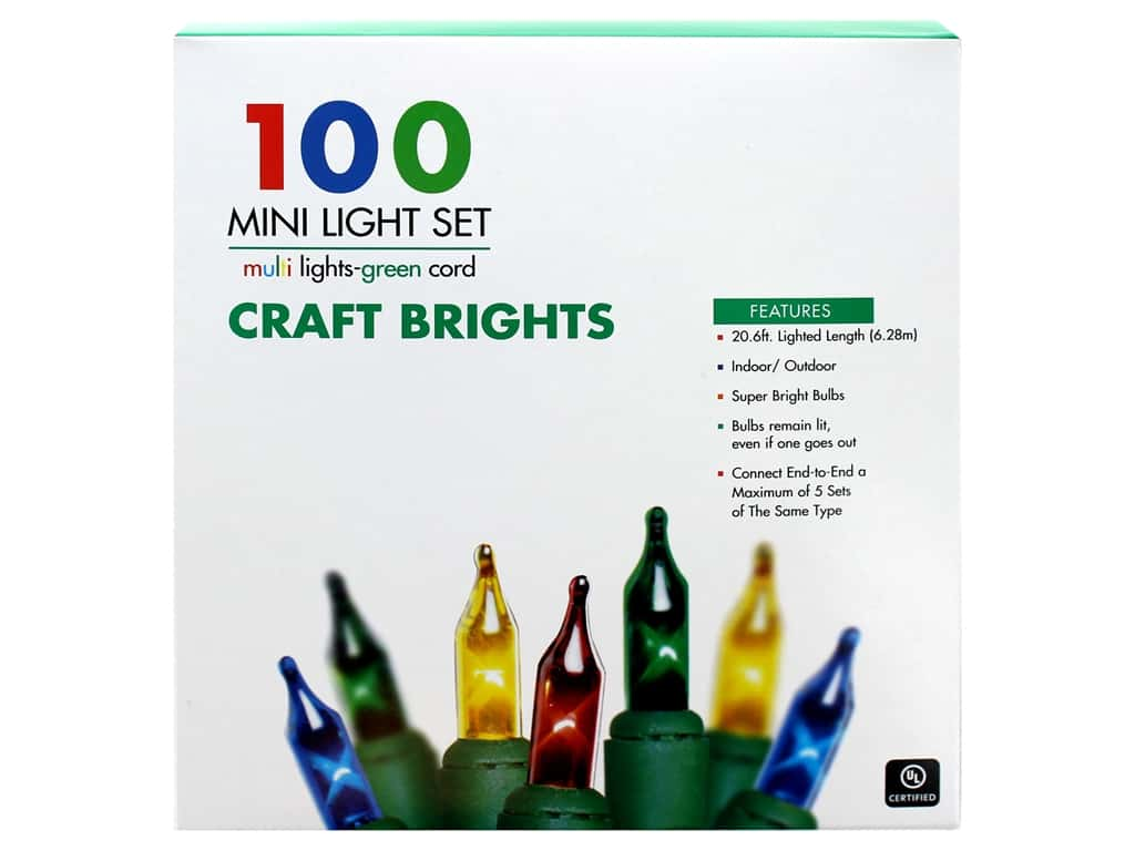 Sierra Pacific Crafts Lights Add-A-Set 100 ct Multi