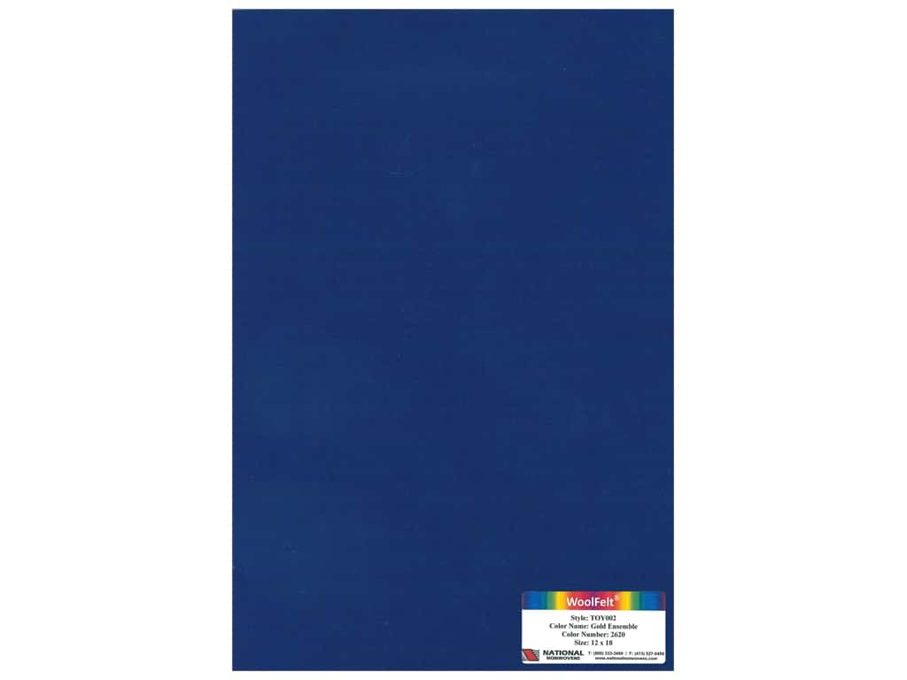 "National Nonwovens Wool Felt 12""x 18"" 35% Moody Blues (10 pieces)"