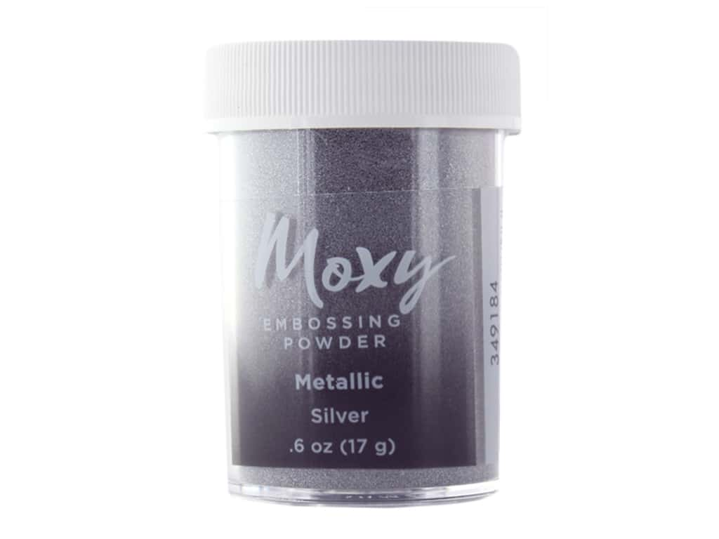 American Crafts Collection Moxy Embossing Powder .6 oz Metallic Silver