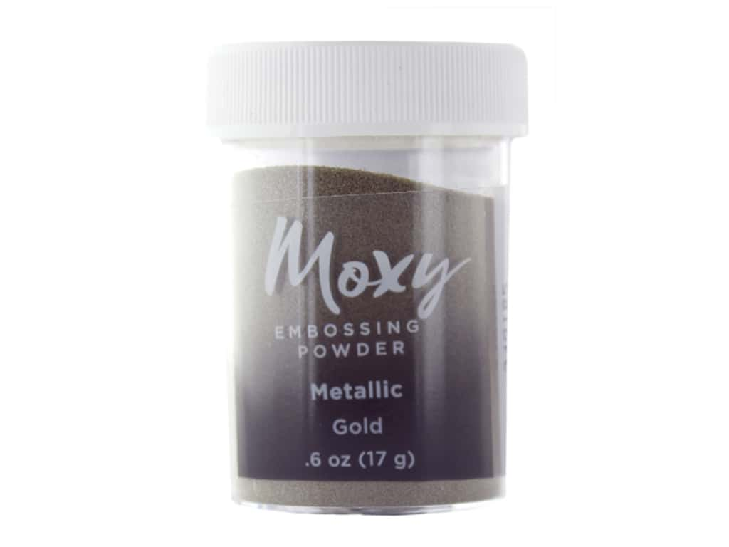 American Crafts Collection Moxy Embossing Powder .6 oz Metallic Gold