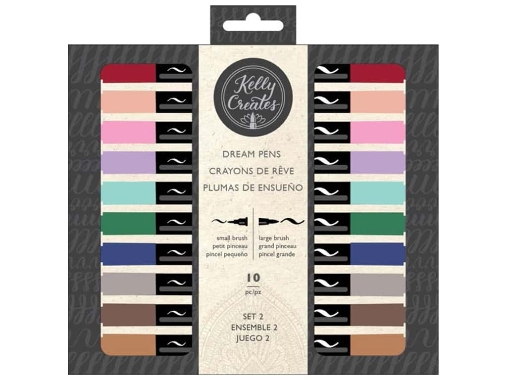 American Crafts Collection Kelly Creates Dream Pen Set 2 10 pc