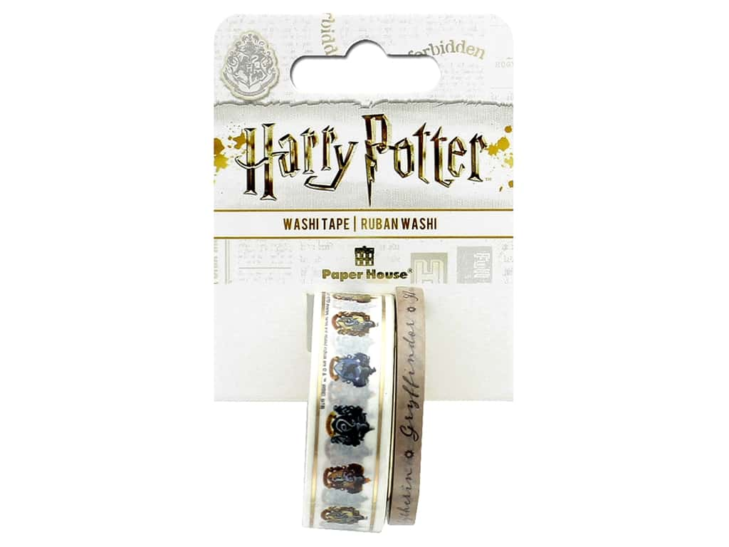 Paper House Collection Life Organized Washi Tape Warner Bros Harry Potter Crests
