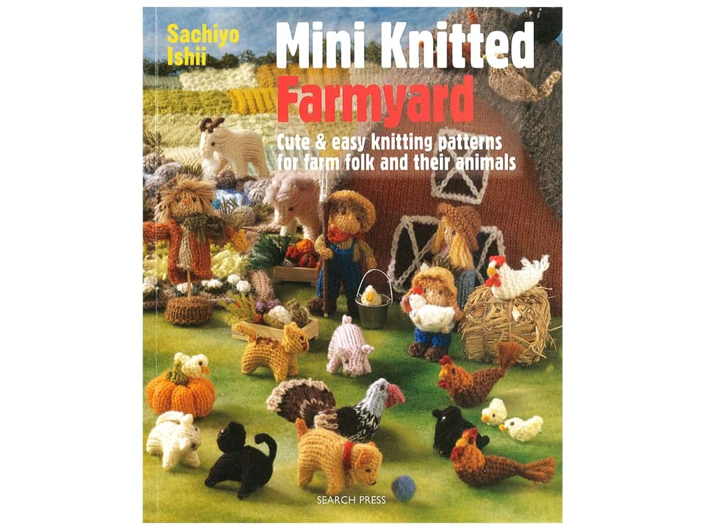 Search Press Mini Knitted Farmyard Book