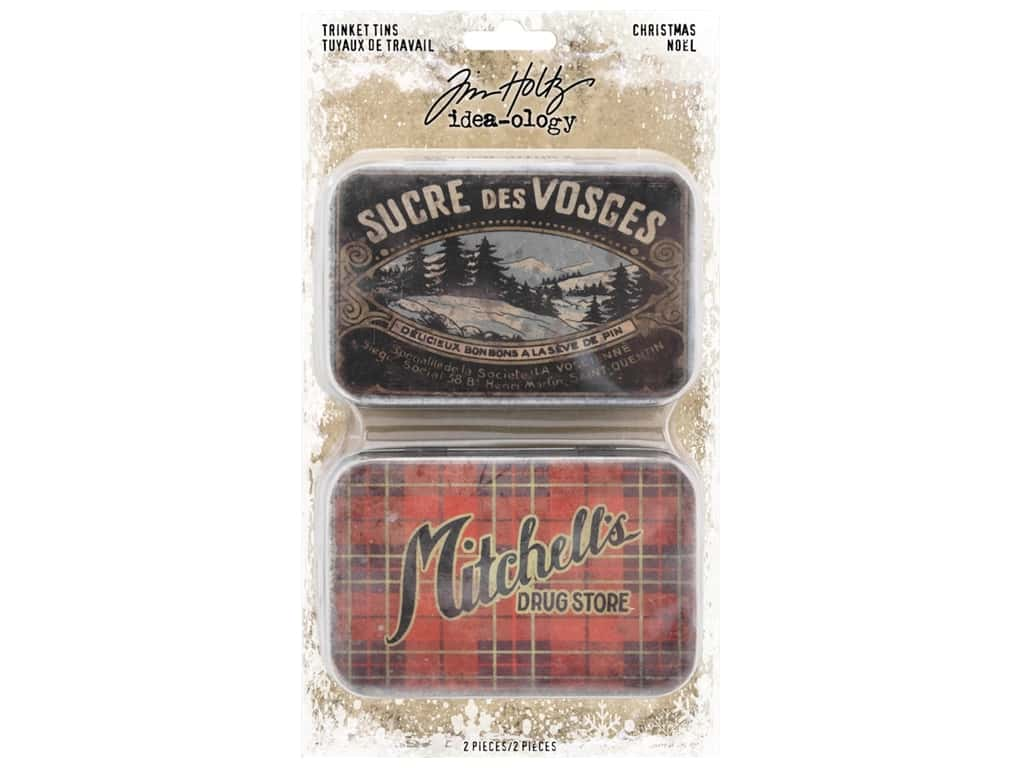 Tim Holtz Idea-ology Christmas Trinket Tins