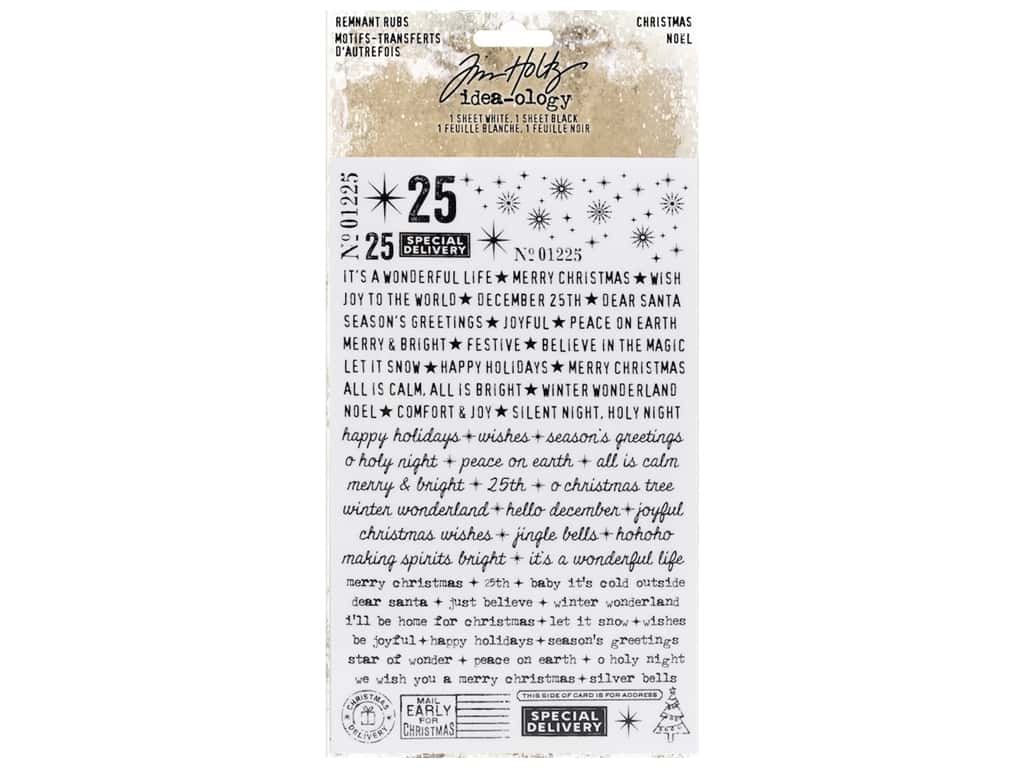 Tim Holtz Idea-ology Christmas Remnant Rubs