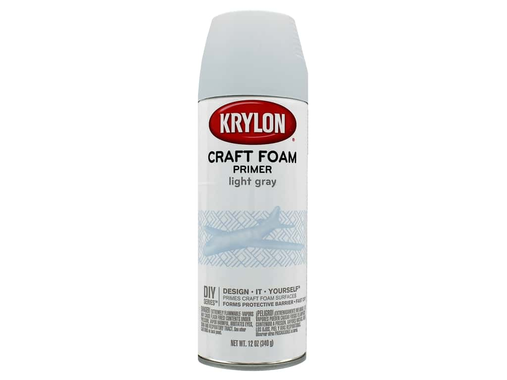 Krylon Craft Foam Primer 12 oz. Light Grey