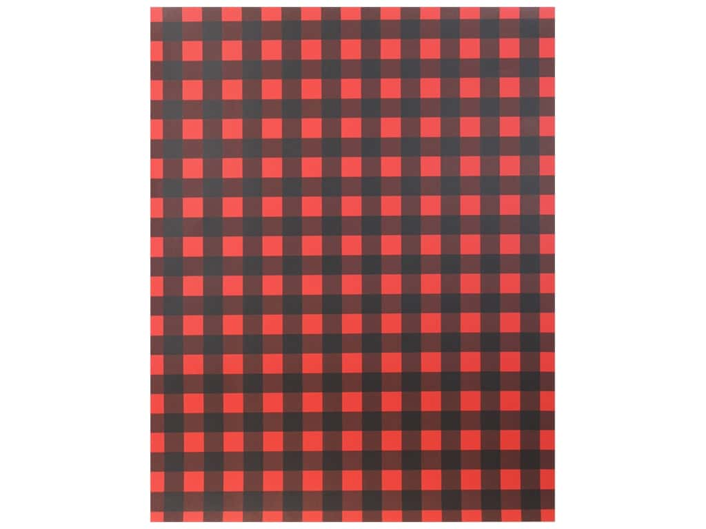 American Crafts Collection Poster Shop Poster Board Plaid Red