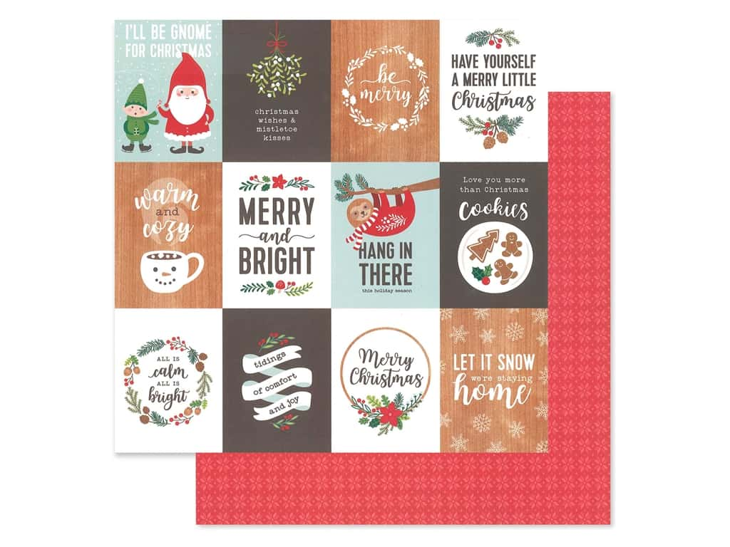 Pebbles Cozy & Bright Collection Paper 12 in. x 12 in. Merry Little Christmas (25 pieces)