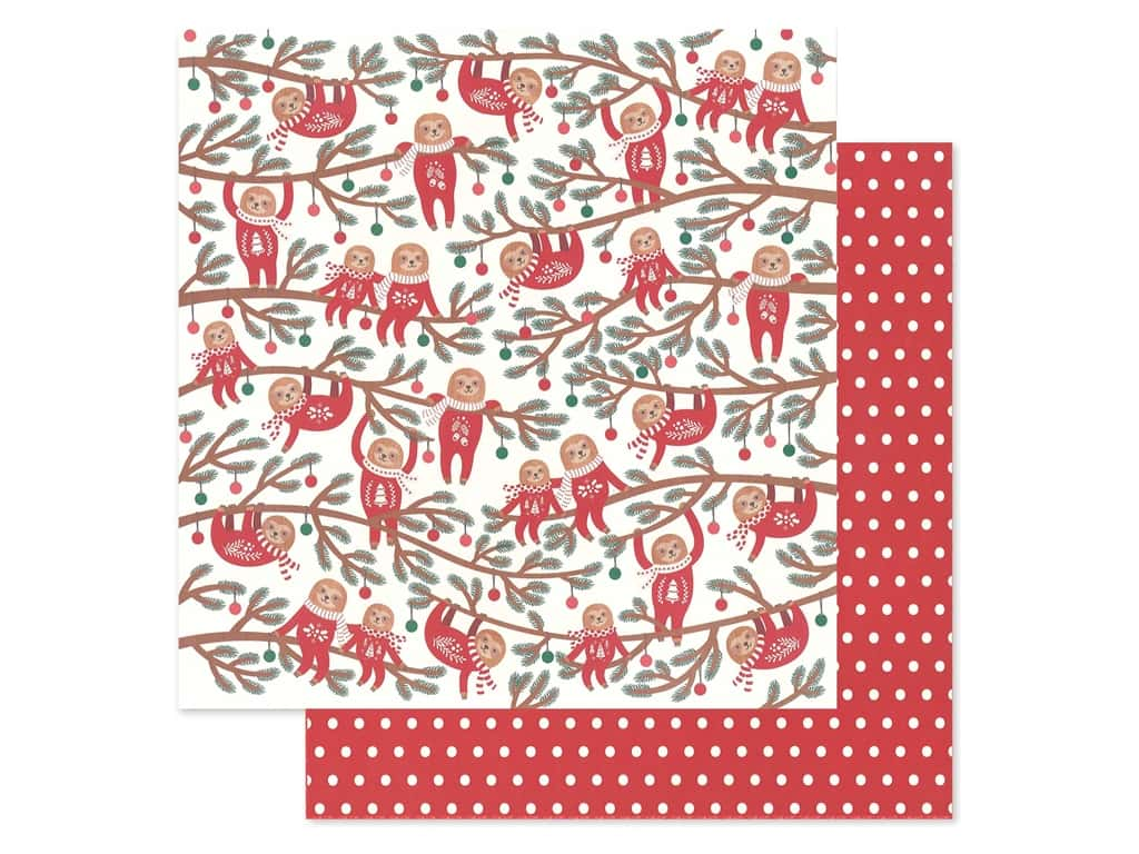 Pebbles Collection Cozy & Bright Paper 12 in. x 12 in. Jingle All The Way (25 pieces)
