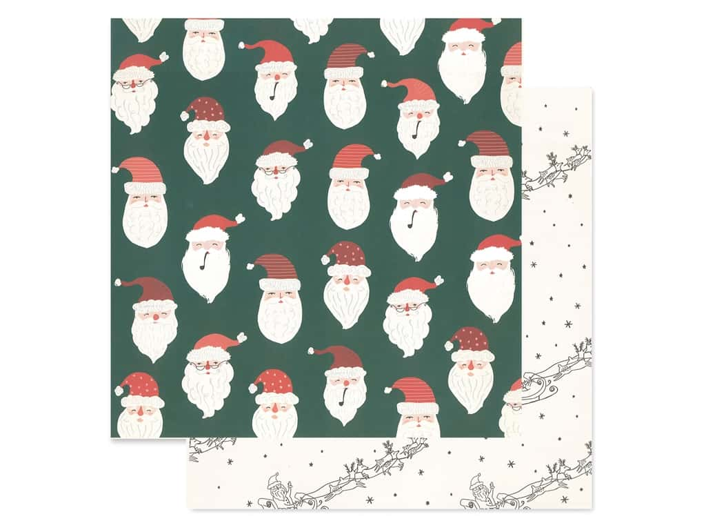 Crate Paper Collection Merry Days Paper 12 in. x 12 in. Believe (25 pieces)