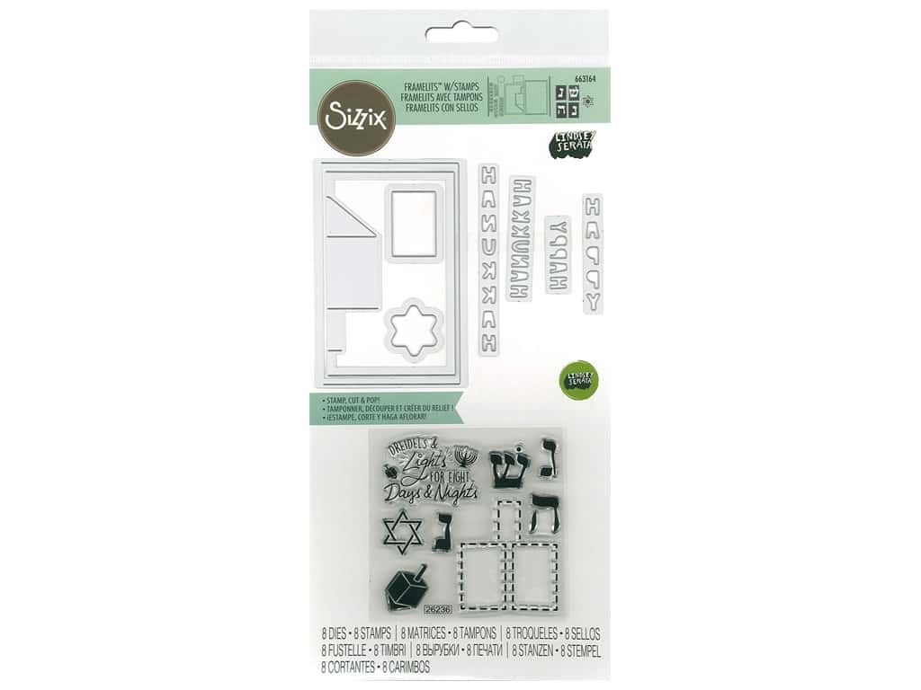 Sizzix Die & Stamp Lindsey Serata Framelits Die With Stamp Pop-Up Dreidel