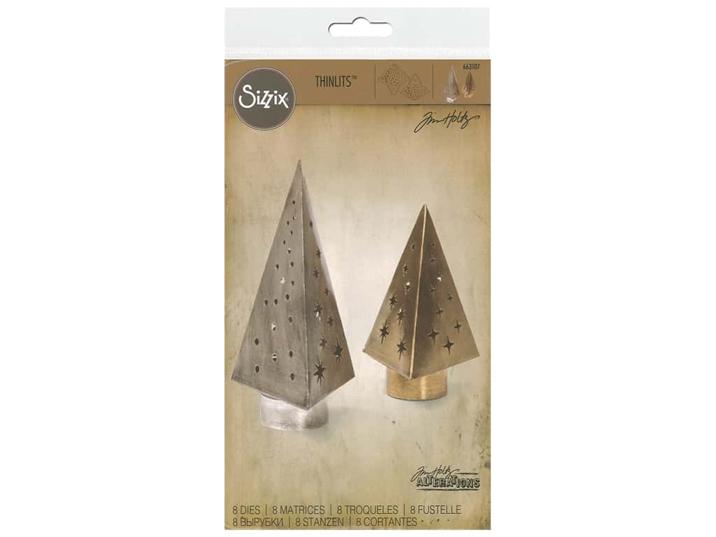 Sizzix Tim Holtz Thinlits Die Set 8 pc. Tree Light