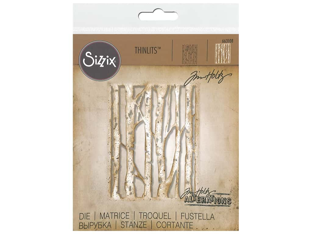 Sizzix Tim Holtz Thinlits Die Branched Birch