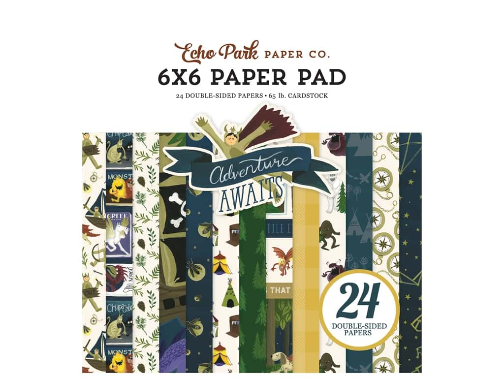 Echo Park Collection Adventure Awaits Paper Pad 6 in. x 6 in.