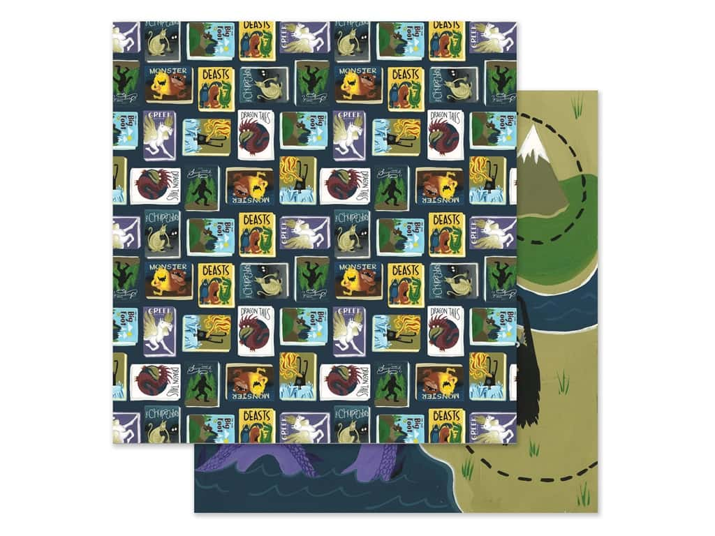 Echo Park Collection Adventure Awaits Paper 12 in. x 12 in. Monster Tales (25 pieces)