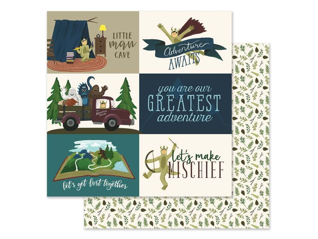 Echo Park Collection Adventure Awaits Paper 12 in. x 12 in. Journaling Cards 4 in. x 6 in. (25 pieces)