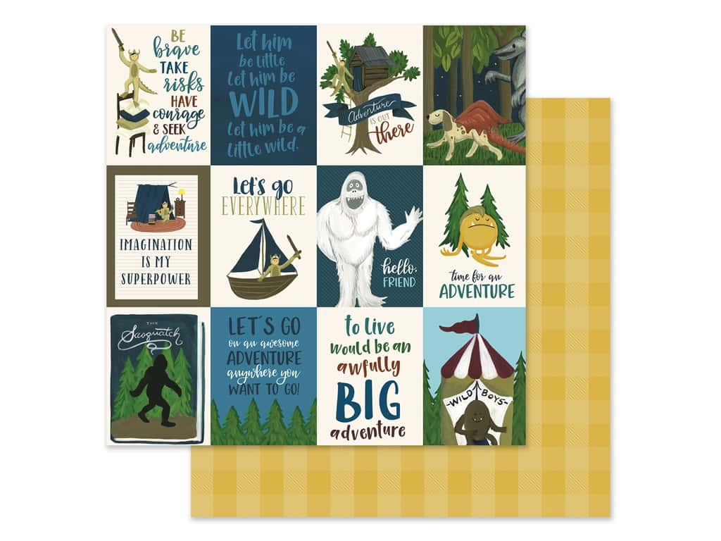Echo Park Collection Adventure Awaits Paper 12 in. x 12 in. Journaling Cards 3 in. x 4 in. (25 pieces)