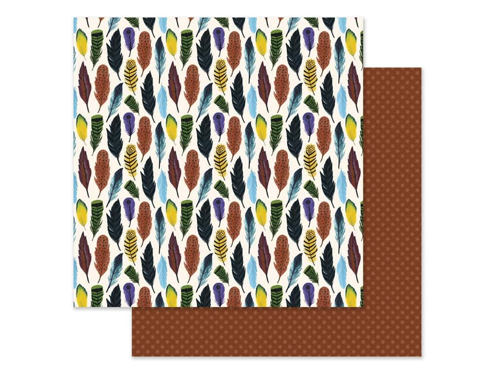 Echo Park Collection Adventure Awaits Paper 12 in. x 12 in. Fearless Feathers (25 pieces)