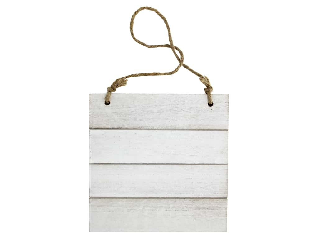 Sierra Pacific Crafts Wood Wall Art With Hanger White