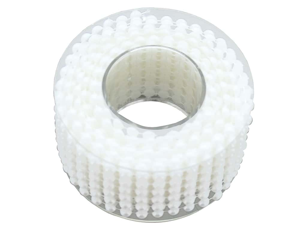 Sierra Pacific Crafts Decor Garland Plastic Spool 2.7 m White Pearls