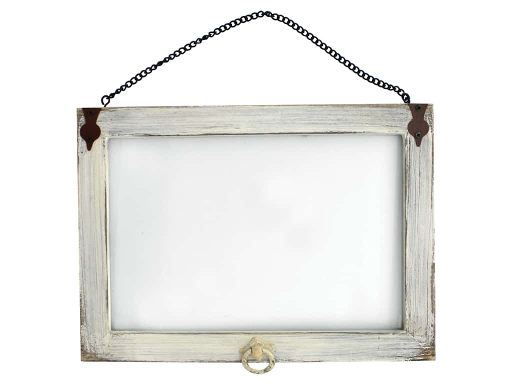Sierra Pacific Crafts Frame Wall Art With Glass 12 in. x 8.5 in. White (2 pieces)