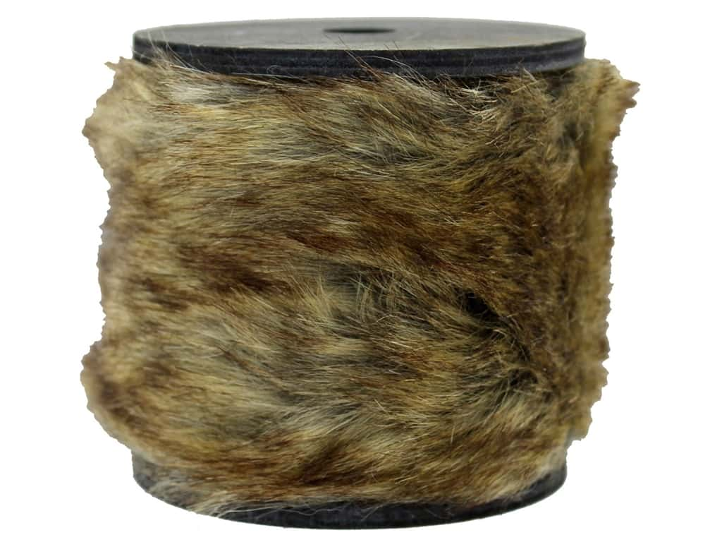 Sierra Pacific Crafts Decor Garland Wood Spool 36 in. Natural Fur