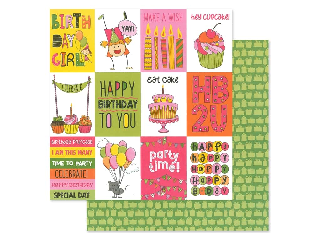 Photo Play 12 x 12 in. Paper Birthday Wishes Girl Celebrate (25 pieces)