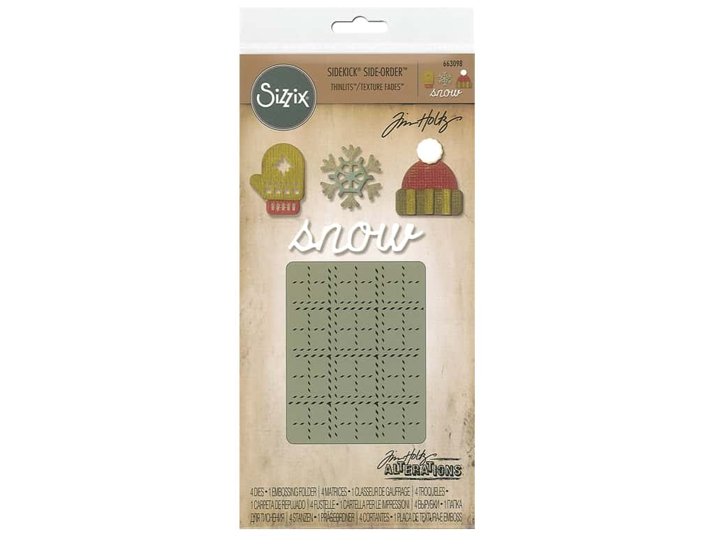 Sizzix Die & Emboss Folder Tim Holtz Sidekick Side Order Winter