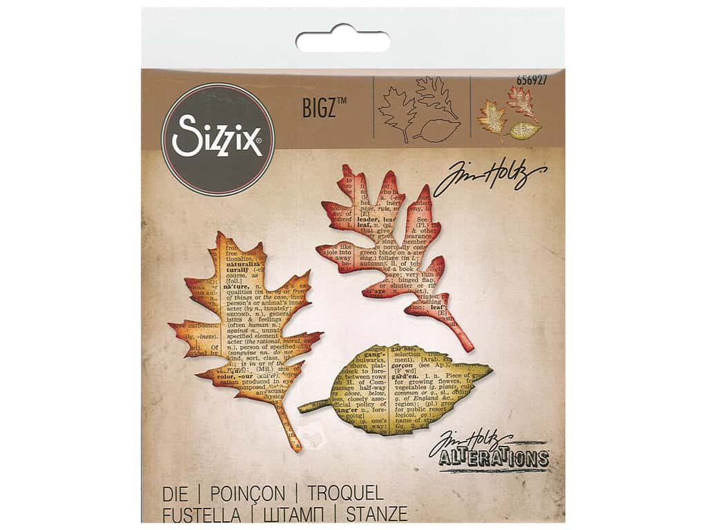 Sizzix Tim Holtz Bigz Die Leaves