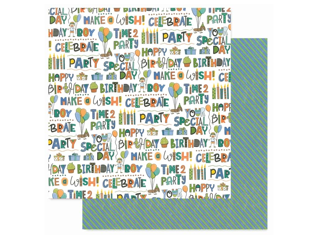 Photo Play 12 x 12 in. Paper Birthday Wishes Boy Time To Party (25 pieces)